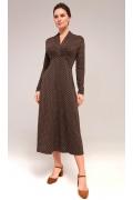 Трикотажное платье с длинным рукавом TopDesign B7 128