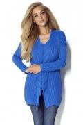 Удлиненный свитер яро-синего цвета Fimfi I301
