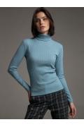 Женский бадлон голубого цвета Emka B2285/compas