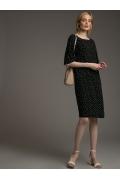 Легкое черное платье свободного кроя Emka PL1033/content