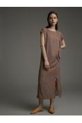 Платье с разрезами по бокам Emka PL1036/leaf