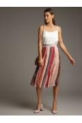 Лёгкая летняя шифоновая юбка в складку Emka S825/kinda