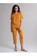 Свободная легкая блуза летнего цвета Emka B2462/orange
