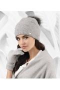 Двойная шапка серого цвета Kamea Artemisa