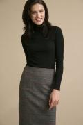 Серая юбка в клетку прямого кроя Emka S663/clover
