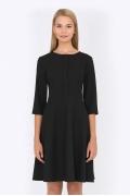 Чёрное платье Emka Fashion PL-557/almaza