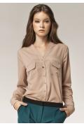 Бежевая блузка Nife B31