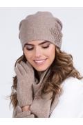 Бежевая женская шапка Kamea Lilly