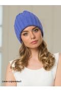 Женская шапка сине-сиреневого цвета Landre Берлин