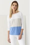 Летняя трикотажная трёхцветная блузка Sunwear Q35-4-15
