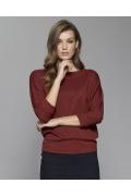 Блузка бордового цвета Zaps Mirasol
