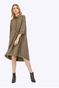 Платье-рубашка в клетку Emka PL858/clarita