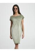 Стильное трикотажное платье цвета хаки Ennywear 250047