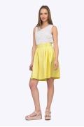 Яркая летняя юбка желтого цвета Emka S322/ruzanna
