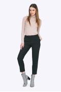 Стильные укороченные брюки чёрного цвета Emka D011/almaza