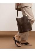 Наплечная сумка из фактурной экокожи Emka C043/condary
