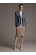 Бежевая юбка на широкой кокетке Emka S202-60/faint