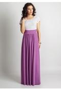 Длинное двухцветное платье TopDesign A6 150