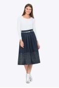 Тёмно-синяя юбка с принтом Emka 306/edvina
