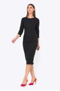 Платье-футляр чёрного цвета PL-674/meggy