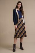 Клетчатая юбка А-силуэта Emka S412/myrmyr