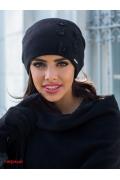 Чёрная трикотажная шапка Kamea Matylda
