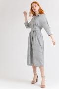 Платье молочного цвета в полоску Emka PL867/morgan