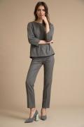 Серые брюки с орнаментом елочка Emka D154/bikara