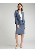 Голубая зауженная юбка со складками Emka S878/point