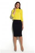 Укороченная блузка жёлтого цвета Donna Saggia DSB-36-54t