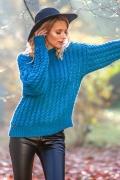 Синий свитер Fobya F591