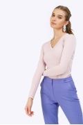 Трикотажная блузка цвета пыльной розы Emka B2448/laser