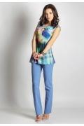 Светло-голубые брюки TopDesign А6 111