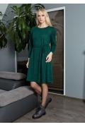 Зелёное трикотажное платье TopDesign B9 024