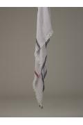 Светло-серый палантин с бахромой Emka A002/castro