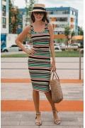 Платье футляр из трикотажа в полоску DSP-347-55t