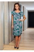 Серо-зеленое летнее платье TopDesign A7 016