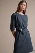 Темно-серое платье в клетку Emka PL1063/aruka