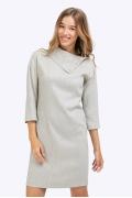 Короткое светло-серое платье Emka PL744/javin