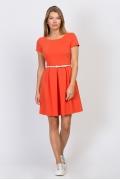 Платье морковного цвета Emka Fashion PL-498/safran
