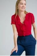 Блузка красного цвета Emka B2413/crush