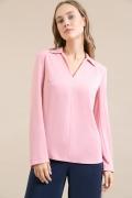 Блузка прямого кроя розового цвета Emka B2455/mackena