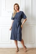 Тёмно-синее платье TopDesign Premium PA20 08