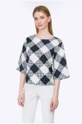 Блузка в крупную клетку Emka Fashion B2311/figura