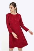Бордовое платье из жаккардовой ткани Emka PL711/ister