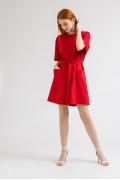 Короткое платье красного цвета Emka PL861/kadu
