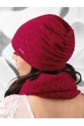 Трикотажная шапка малинового цвета Kamea Argenta
