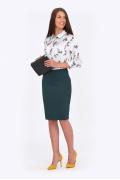 Юбка тёмно-зелёного цвета Emka Fashion 649-grenata