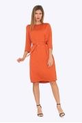 Женское оранжевое платье на осень Emka PL697/jonsi