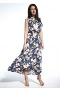 Длинное летнее платье из тонкого трикотажа Enny 250203